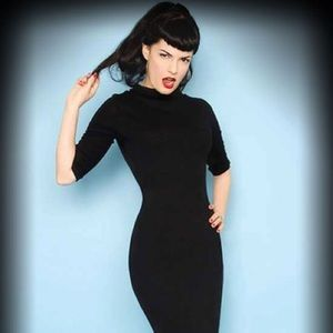 Heartbreaker Super Spy sexy dress in black, XL